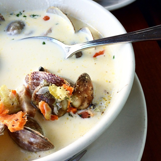 Gluten free clam chowder?? Yes please!