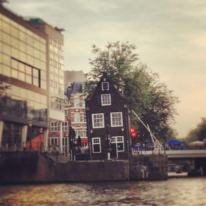Leaning House in Amsterdam