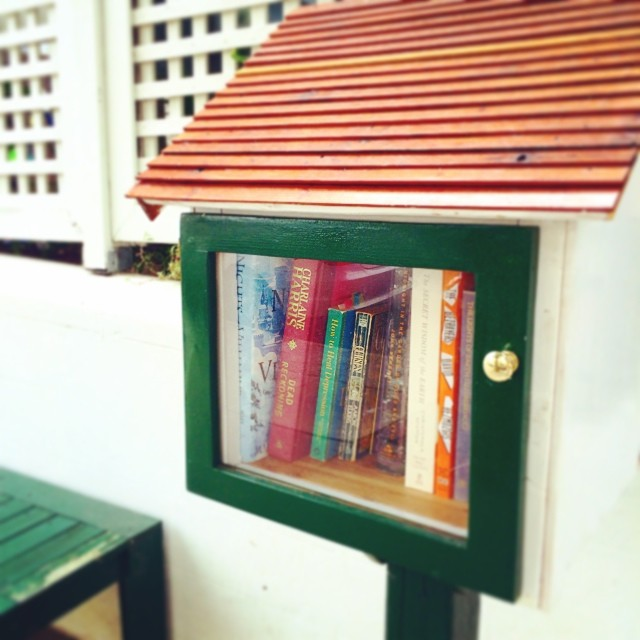 Love outdoor community libraries.