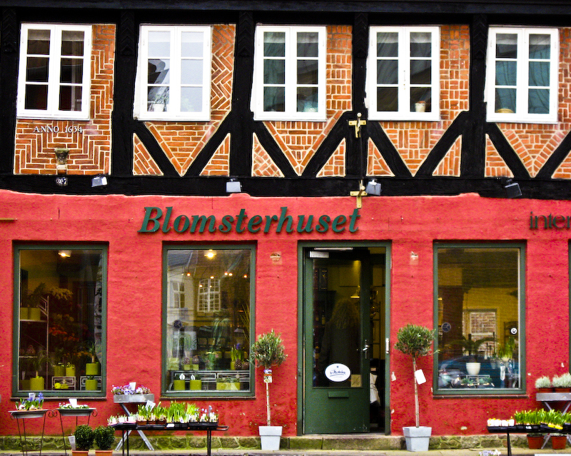 Blomsterhuset (Flower Shop) in Ribe Denmark